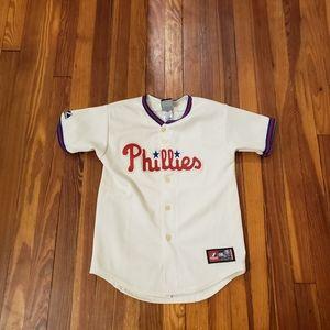 Philadelphia Phillies Majestic Kids Medium Blank J